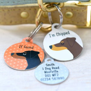 Doberman Personalised Dog Tag