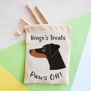 Doberman Personalised Treat Training Bag  - Hoobynoo - Personalised Pet Tags and Gifts