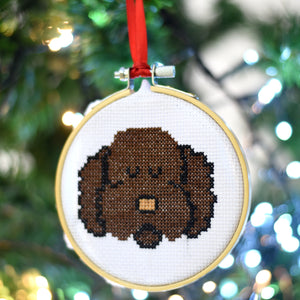 Dog Breed Mini Cross Stitch Kit Christmas Decoration