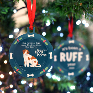 Charity Christmas Decoration with Birmingham Dogs Home