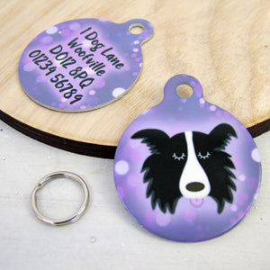 Personalised Dog ID Tag Bokeh Lights