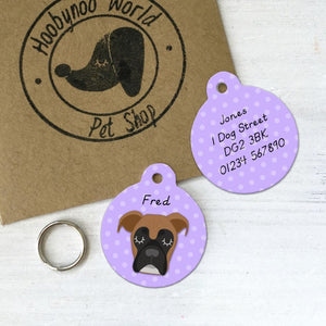 Boxer Personalised Pet ID Tag  - Hoobynoo - Personalised Pet Tags and Gifts
