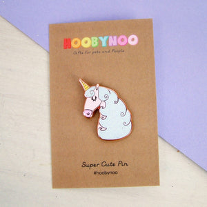 Unicorn Enamel Pin  - Hoobynoo - Personalised Pet Tags and Gifts