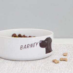 Personalised Ceramic Dog Bowl  - Hoobynoo - Personalised Pet Tags and Gifts