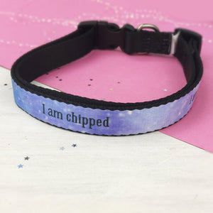 Personalised Unique Galaxy Dog Name Collar