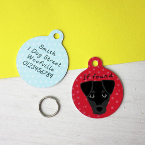 Patterdale Terrier Personalised Dog ID Tag  - Hoobynoo - Personalised Pet Tags and Gifts