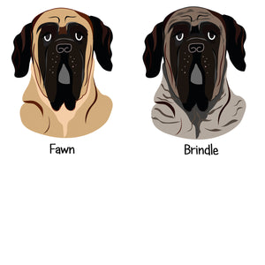 English Mastiff Personalised Christmas Present Sack  - Hoobynoo - Personalised Pet Tags and Gifts