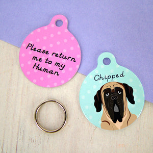 English Mastiff Dog ID Tag  - Hoobynoo - Personalised Pet Tags and Gifts