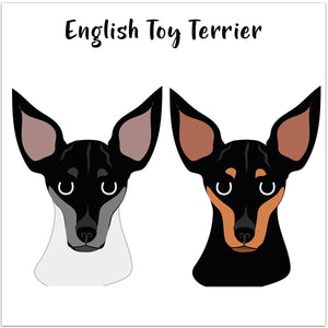 English Toy Terrier Personalised Christmas Present Sack  - Hoobynoo - Personalised Pet Tags and Gifts