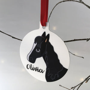 Personalised Horse Christmas Decoration  - Hoobynoo - Personalised Pet Tags and Gifts