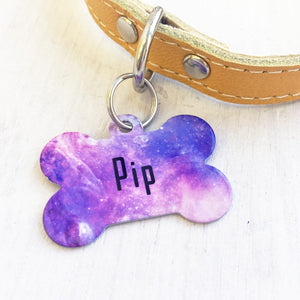Personalised Universe Bone Pet ID Tag  - Hoobynoo - Personalised Pet Tags and Gifts
