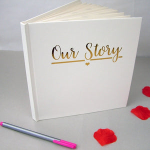 Our Story - Couples Memory Book  - Hoobynoo - Personalised Pet Tags and Gifts