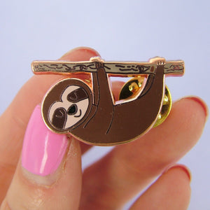 Sloth Enamel Pin  - Hoobynoo - Personalised Pet Tags and Gifts
