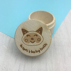 Personalised Cat Tooth Keepsake Box  - Hoobynoo - Personalised Pet Tags and Gifts