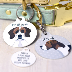 Fox Hound Personalised Dog ID Tag