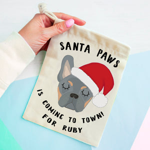 French Bulldog Christmas Treat Present Bag  - Hoobynoo - Personalised Pet Tags and Gifts