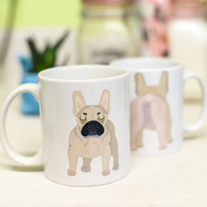 French Bulldog Butt Mug - Funny Reverse Mug  - Hoobynoo - Personalised Pet Tags and Gifts