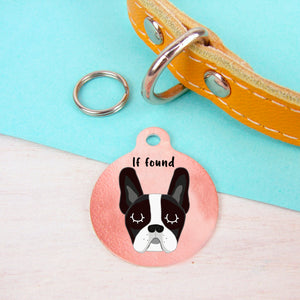 French Bulldog Personalised Dog Tag - Copper  - Hoobynoo - Personalised Pet Tags and Gifts