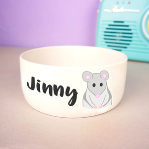 Personalised Gerbil Bowl  - Hoobynoo - Personalised Pet Tags and Gifts