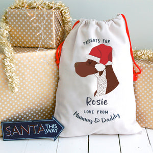 German Pointer Personalised Christmas Present Sack