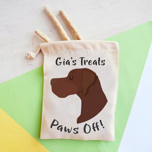 German Pointer Personalised Treat Training Bag  - Hoobynoo - Personalised Pet Tags and Gifts