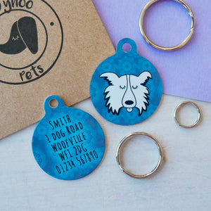Personalised Dog ID Tag - Ghost Dog  - Hoobynoo - Personalised Pet Tags and Gifts
