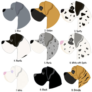 Great Dane Personalised Dog Id Tag  - Hoobynoo - Personalised Pet Tags and Gifts