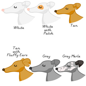 Greyhound / Whippet Personalised Dog ID Tag - White  - Hoobynoo - Personalised Pet Tags and Gifts