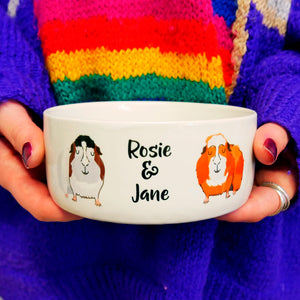 Personalised Guinea Pig Bowl  - Hoobynoo - Personalised Pet Tags and Gifts
