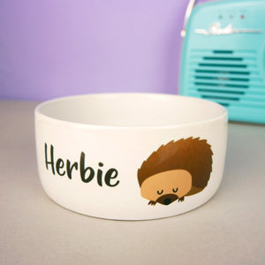 Personalised Hedgehog Bowl  - Hoobynoo - Personalised Pet Tags and Gifts