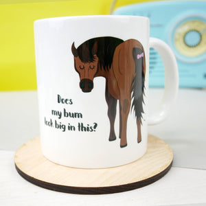 Cheeky Horse Bum Mug  - Hoobynoo - Personalised Pet Tags and Gifts