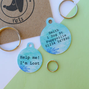 Personalised Pet ID Tag - Ink Paper  - Hoobynoo - Personalised Pet Tags and Gifts