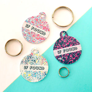 Personalised Pet ID Tag - Paint Splatter  - Hoobynoo - Personalised Pet Tags and Gifts