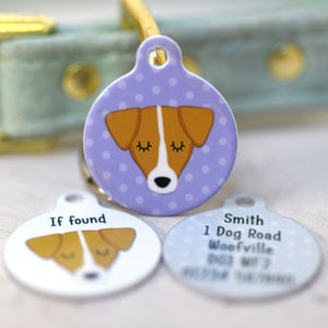 Jack Russell Personalised Dog Tag