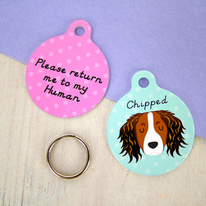 Kooikerhondje Personalised Dog ID Tag  - Hoobynoo - Personalised Pet Tags and Gifts