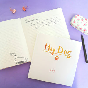 My Dog - Memory Book  - Hoobynoo - Personalised Pet Tags and Gifts