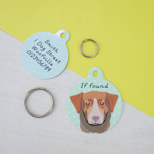 Nova Scotia Duck Tolling Retriever Personalised Dog ID Tag  - Hoobynoo - Personalised Pet Tags and Gifts