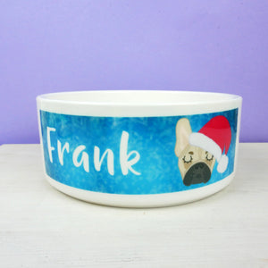 Personalised Christmas Dog Bowl  - Hoobynoo - Personalised Pet Tags and Gifts