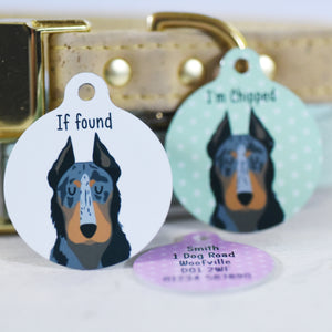 Beauceron Personalised Dog ID Tag