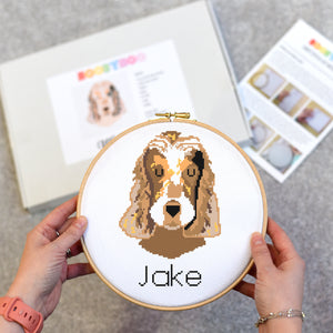 Personalised Dog Cross Stitch Kit