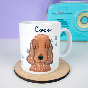 Personalised Portrait Dog Footprint Mug  - Hoobynoo - Personalised Pet Tags and Gifts