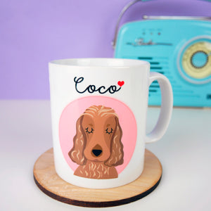 Personalised Portrait Dog Love Mug  - Hoobynoo - Personalised Pet Tags and Gifts