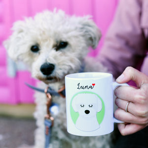Personalised Portrait Dog Love Mug