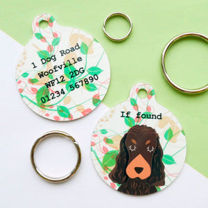 Personalised Dog ID Tag - Autumn Green  - Hoobynoo - Personalised Pet Tags and Gifts