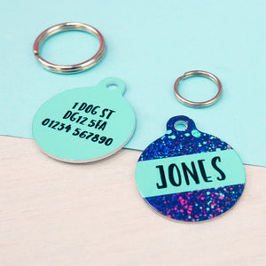 Personalised Pet ID Tag - Neon  - Hoobynoo - Personalised Pet Tags and Gifts