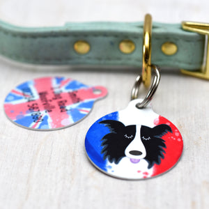 Personalised Flag Dog Name Tag