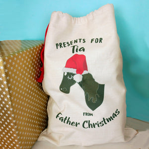 Personalised Horse Christmas Sack