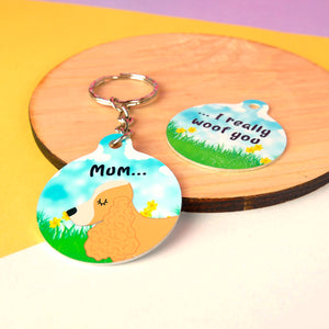 Personalised Dog Keyring - Spring Edition  - Hoobynoo - Personalised Pet Tags and Gifts