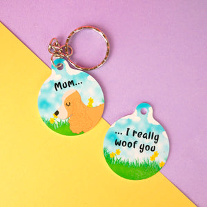 Personalised Dog Keyring - Spring Edition