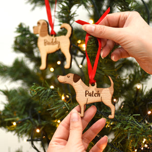 Personalised Dog Breed Wooden Decoration